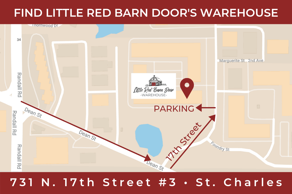 Little Red Barn Door Warehouse Map